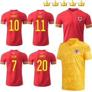 2020 2021 camiseta de fútbol de Gales 20 21 BALE ALLEN James Wilson Ben Davies Camisetas inicio de color rojo jerseys ausentes del maillot kits de camisetas de fútbol