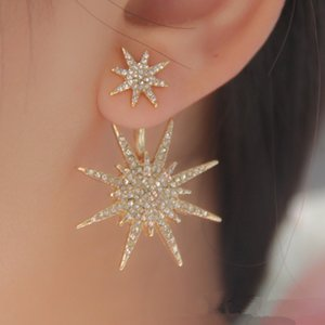 2020 Hot Christmas Gift Fashion Personality Snowflake Dangle Earrings for Women Rhinestone Protector Six-pointed Star Earring