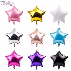 FENGRISE 18inch Star Film bébé de douche Ballons rose Or blanc Bonne fête d'anniversaire Décorations enfants