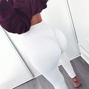Новый Scrunch Booty Леггинсы Фитнес тренировки Женщины Упругие Jaquard текстурированные гетры для капельницы Горячие продаж Плюс Размер Черный Фитнес Белый