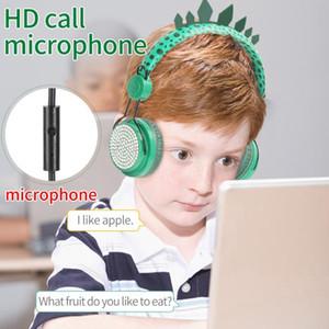 Dinosaur Kids Headphone Children learning Headphones Wired Headsets Earphones 3.5mm Over-Ear Earphone for Learning kids