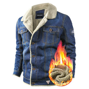 VOLGINS Marca Denim Mens Jacket Jeans Outono-Inverno Jacket Men Thick Quente Bomber Army Mens Jackets Coats