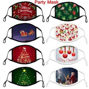 Máscara de Natal Algodão Ajustável Ajustável Corda Adulto Máscara de Pano Máscara Respirável Macio e Customizável Processamento Designers Face Máscaras