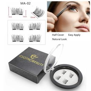 Magnetic Eyelashes 2 Magnets Half Cover False lashes,Reusable Magnetic Eyelashes,Natural cils magnetique,cilios magnetico