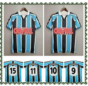 00 Jersey di calcio retrò Ronaldinho Zinho Nene Warley Gremio Porto Alegre Home Vintage Vecchia Camicia da calcio classica classica