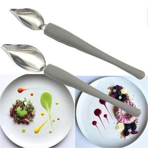 cuisine cuillère peinture sauce au crayon chef en acier inoxydable restaurant de décoration dessert pâtisserie occidentale forte outil de cuisine