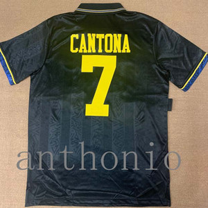 Top 1993/94 Rétro Vintage Classique Beckham Giggs Cantona Soccer Jersey Camisa 91/92 Chemises de football Kit Camiseta Futbol Maillot de pied 07/08