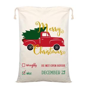 Canvas Weihnachten Sants Tasche der neuen Ankunfts-Weihnachtsmann-Beutel-Weihnachtsgeschenk-Taschen Christmas Säcke Stocking EEE2709