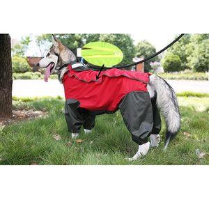 Big Dog Altercoat Ropa Labrador Retriever Impermeable Outwear Outwear Outwear Pet Large Perro Lluvia Chaqueta Jumpsuit Traje Overlaje 20 T200710