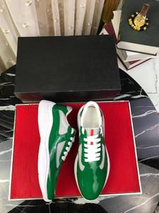 Echtes Leder-Sneakers Grün Designer-Turnschuhe Luxus-Designer-Schuhe Herrenschuhe Wanderschuh Herren Turnschuhe 2021 Chaussures Neueste