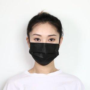 MASK MASK GLLOC MASK MASK LEAD LASIC MASKS Защитные маски одноразовые лица PM2.5 Крышка 4 слоя нетканые черные анти пыли рот лица QLT QPIA