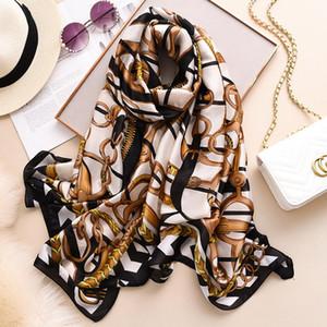 Femmes Léopard Soie-Satin Head Long Square Square Square Hijab Echarpe Nouvelle mode Imprimer la plage Châle Écharpes Écharpes