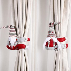 Curtain Doll Hanging Ornaments Santa Claus Window Decoration Christmas Gifts Xmas Party 2021 New Year Home Decor Supplies