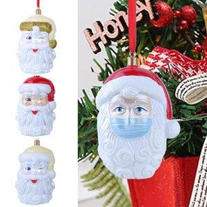 3D in resina Decorazione natalizia quarantena ornamenti Survivor Family Party Pandemic sociale distanze Xmas Tree Babbo Natale del pendente