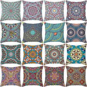 Abstract Mandala Pillow Case Nordic Geometric Peach Skin Pillow Case Sofa Office Cushion Cover