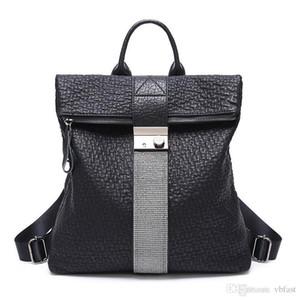 Designer Backpack Lady strass Mochilas bloqueio Fecho Back Pack Estudantes Leather Backpack bookbags Colégio Backpack Outer viagem Mochilas