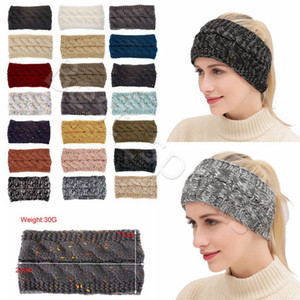 21 Colors Knitted Crochet Headband Women Winter Sports Hairband Turban Head Band Ear Warmer Beanie Cap Headbands CYZ2864
