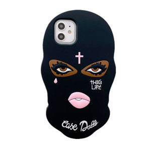 Black Face Phonecase for iPhone XS x 11PRO MAX XR 8 7 6S Plus Phonecase
