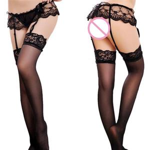 Frauen-Wäsche-Strumpfhose Sexy Strumpfgürtel Sexy Lace Top Oberschenkel-Highs Strümpfe Strumpfgürtel Strapsset