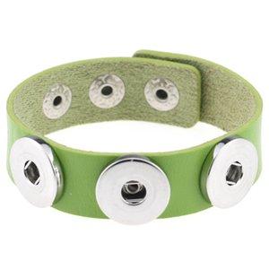 кожаные браслеты Multicolor Snap кнопки браслет браслеты моды DIY PU для женщин Snap кнопки ювелирных рождественские подарки DHF2562