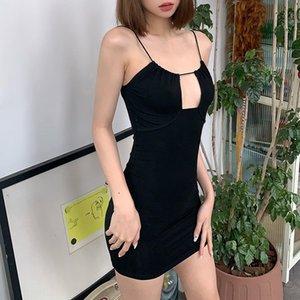 LSPQ Verão Mini Mulheres Sem Mangas C153 Vestido Saia One Piece Vestido de Alta Qualidade Vestido Skinny Moda Luxo Clubwear Designer