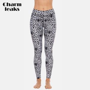 Charmleaks Femmes Long Natation Trunks dames imprimé léopard Pantalon Skinny natation sport de plein air Jambières Maillots de bain