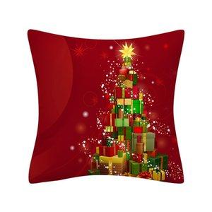 Christmas Pillow Case Glitter Polyester Sofa Throw Cushion Cover Home Decor Cushion Cover Funda Cojin Square Cuscini Decorativi yxlmkp