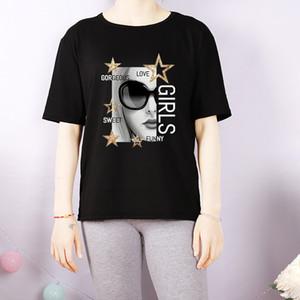 Customizável Womens DIY Camisetas Womens respirável Moda gola Shirts 2020 Verão New Casual Mulheres T Plus Size M-4XL A684