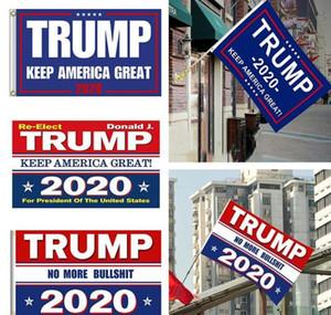 الديكور راية العلم ترامب شنقا 90 * 150CM ترامب إبقاء أميركا العظمى لافتات 3x5ft الرقمية طباعة دونالد ترامب 2020 العلم