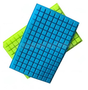 Summer Silicone Ice Molds 126 Lattice Portable Square Cube Chocolate Candy Jelly Mold Kitchen Baking Supplies DHL ships