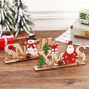 Ornamenti natalizi Merry Christmas Decor in legno per la casa 2021 Navidad Cristmas Decorations Regali Xmas Capodanno DHA3112