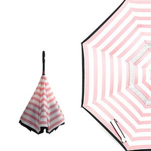 عكس نوع c مظلة الأيدي الحرة مقبض طويل doubledeck ظلة الأزياء المظلات أصالة سيارة اللون ultravioletproof جديد 17xy m2