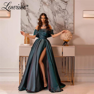 New Arrival Pageant Party Dresses Boat Neck A-Line Arabic Prom Dresses Long Formal Evening Gown For Dubai Middle East Women 2020