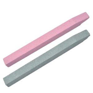 2 unids Cuarzo Scrub Archivo de uñas Cutícula Quitar Stick Nail Art Art Ruting Stone Exfoliate Talla Pusher Manicure C Qylech