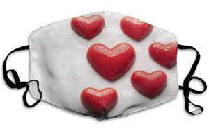 هدية عيد الحب قناع الوجه أقنعة عيد الحب للبنين بنات زوجين أقنعة الغبار غسلها الخوخ القلب الحب faceMask الرجال النساء GWD4279