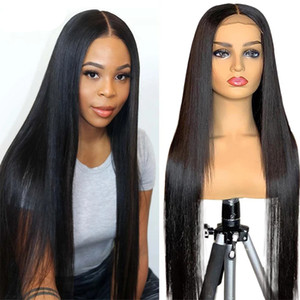 4x4 Closure Wigs Lace Closure Wig Straight Lace Front Wigs 150% Virgin Remy 30 inch Lace Wig Brazilian Human Hair Wig