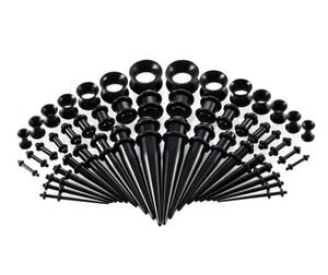 50pcs / set mix Grandezze acrilico della spina del cono con l'orecchio Tunnel Plug Gauge Kit Ear Expander barella Set Gioielli Body Piercing