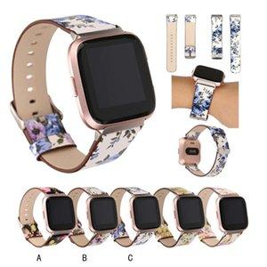 Mit Steckverbinder Drucken Leder Accessoires Uhrenarmband für Fitbit VERSA