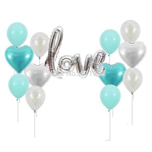 love letter foil balloon tiffany pink rose gold wedding party bridal shower decorations Valentine Day Enagaement balloons globol