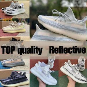 Yeni 2020 En Kaliteli Kanye Batı Erkek Kadın Koşu Ayakkabıları Israfil Külot Dünya Asriel Zebra Siyah Beyaz Statik Erkek Sneakers Spor Boyutu 36-46