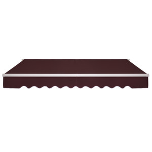 Waco Patio toldo, 13x8 ft manual retraível grau comercial totalmente montar plenagem da janela de ployester Deck Deck Sunshade - vinho vermelho