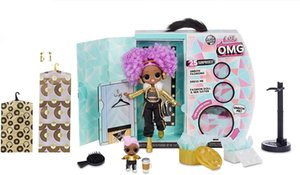 LOL. Surprise! O.m.g. Winter Disco 24K D.j. Fashion Doll & Sister Girls Toys Y200428 011