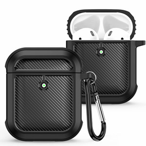 Shockproof Carbon Fiber Design Soft Protective Case For Apple Airpods 1 and 2 Airpods Pro 3 Bluetooth Wireless Headphones Earbuds