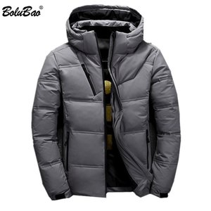 BOLUBAO Winter New Men Down Jacket Men's Brand Hooded Solid Color Wild Down Coats Casual Warm White Duck Down Jacket Male 201112
