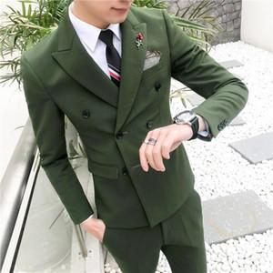 Korean Version Men's Small Casual Suit Suit Men's Groomsmen Fit 3 Pieces Tuxedo Groom Wedding Suits