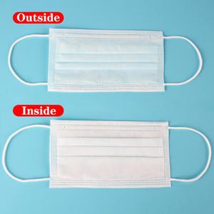 3 Schichten staubfeste Masken Einweg-Gesichtsmaske mit elastischen Ohrringen Einweg-Anti-Staub-Schutzmaske US ASAP-Versand EWE2527