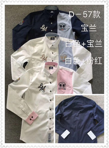 2020 Marke Sommer La martina Stickerei-Polo-Hemd Männer lange Hülsen-beiläufige Männer Shirts Customs Fit Polo Homme camisetas Cotton Polos Herren