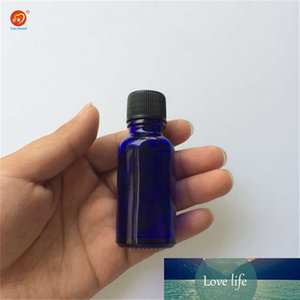 Wholesale 15ml Small Blue Glass Bottles with Sealing up Stopper+Screw Cap Nail Polish Oil Bottles Glass Jars 24pcs lot