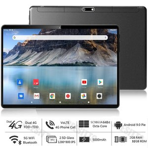 Globale Version Dual SIM 4G LTE 10-Zoll-Tablet-PC Phablet 5G Wifi 2 + 32 GB ROM Android 9.0 Octa-Core IPS 1280 * 800 + Geschenk 64GB TF-Karte1
