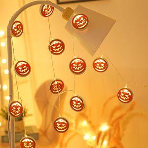 Cross-Border New LED Halloween Pumpkin Lantern String Ghost Festival Skull Ghost Dress up Props Bar Funny Decorative Lights